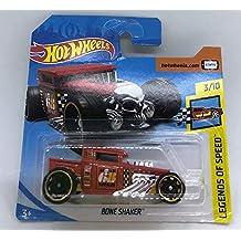 Hot Wheels 2018 Bone Shaker Red 3/10 Legends of Speed 122/365 (