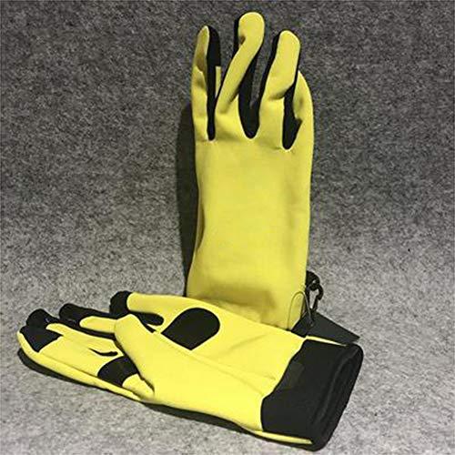 YCCDDY Winterhandschuhe Handschuhe Rutschfest Touchscreen Handschuhe Draussen Sport Thermal Für Laufen Fahren Skifahren Skating Klettern,Yellow,L -