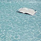 PVC Bodenbelag Wasser Blau Swimming Pool Blue Breite 2 m