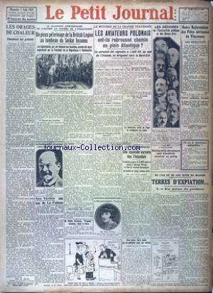 PETIT JOURNAL (LE) [No 23943] du 05/08/1928