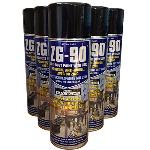 pack-of-5-500ml-zg-90-black-ral9005-anti-rust-zinc-galve-metal-paint