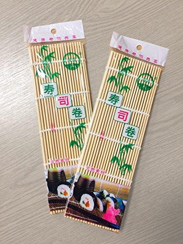 Facile Plantes Lot de 2 Style Japonais Sushi Roll Maker Bambou Rouler équipement de Préparation 24,1 x 24,1 cm