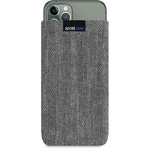Adore June Business Custodia Compatibile con Apple iPhone 11 PRO, Materiale Caratteristico con Display di Pulizia Effetto, Grigio/Nero