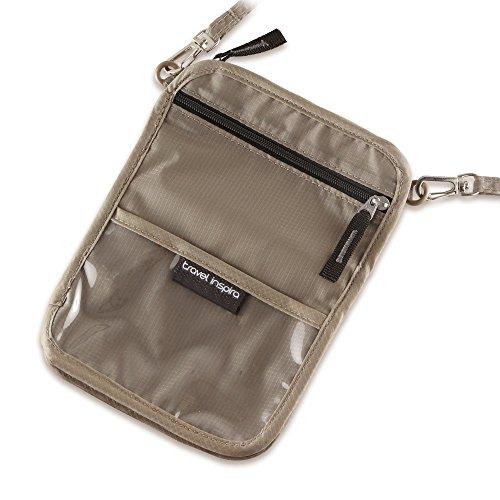 travel inspira Neck-Pouch-Money-Belt-Wallet für Reisepass,Brustbeutel zum Tragen und Verstecken von Wertsachen (Neck Pouch)