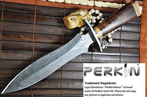 Perkin Knives Damastmesser Jagdmesser handgemachte damast Jagdmesser