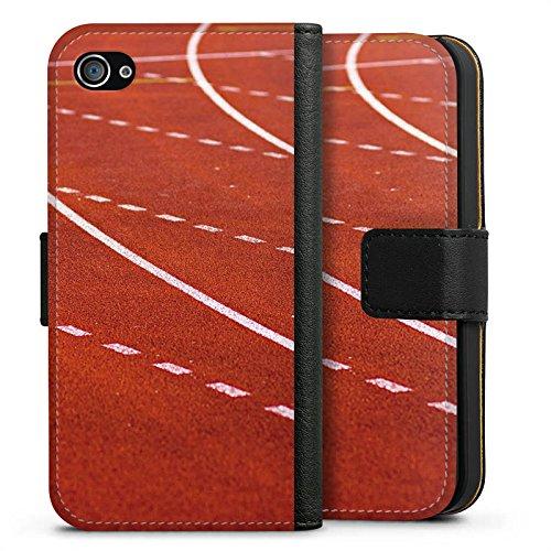 Apple iPhone X Silikon Hülle Case Schutzhülle Rennen Laufbahn Sprinten Sideflip Tasche schwarz