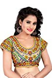 Women Ethnic Women'S Cotton Saree Blouse (2003.Multi_Multi-Coloured_Free Size)