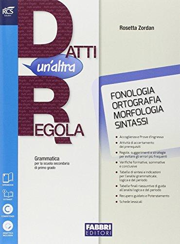 Datti un'altra regola. Morfologia + Quaderno + Prove ingresso + card OpenBook Morfologia. Secondaria prima grado