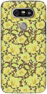 The Racoon Grip printed designer hard back mobile phone case cover for LG G5. (Brown Glow)