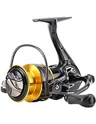 Skysper Moulinet de Pêche en Métal 10 + 1 Roulements à Billes avec Haute Vitesse 5.2:1 Gauche / Droite Interchangeables Spinning Reel