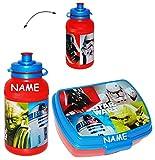 alles-meine.de GmbH 2 tlg. Set: Brotdose + Trinkflasche -  Star Wars  - Incl. Name - Lunchbox / ..