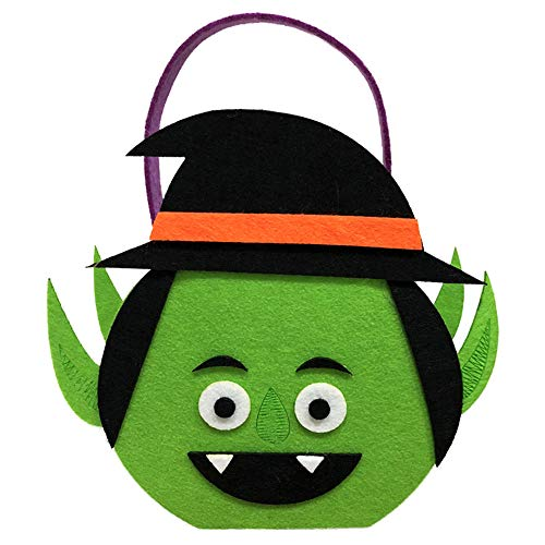 Happy Halloween Party Bag Cute Trick or Treat Candy Storage Tote Bag Cute Cartoon Sugar Tote Bag Baskets with Handle for Kids Kleinkind Jungen Mädchen Ghost approx.15 * - Cute Ghost Kostüm Für Kleinkind