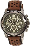 Timex Men's Quartz Watch with Green Dial Chronograph Display and Brown Leather Strap TW4B01600