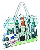 Unbekannt ALADINE 03941 - Stampo Architekt Ritterburg, 44 Stempel, 1 Stempelkissen mit abwaschbarer Tinte, Spiel
