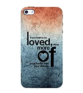 EPICCASE love and to be loved Mobile Back Case Cover For Apple iPhone 5s (Designer Case)