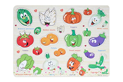 Baybee Wooden fun with vegetables Puzzle