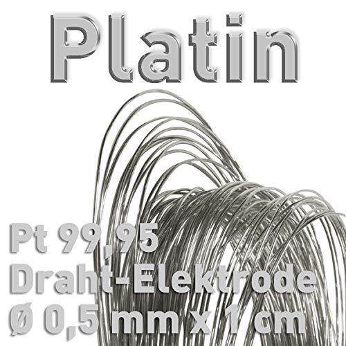 Platino PT 99,95% alambre de electrodo  0,5mm x 10mm galvanoplástica Fein platino ánodo 1cm platino alambre