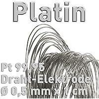 Platino PT 99,95% alambre de electrodo ⌀ 0,5mm x 10mm galvanoplástica Fein platino ánodo 1cm platino alambre