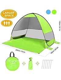 SLB Pop Up Beach Tent, Large Beach Tent Waterproof Anti UV Sun Shelter(3 Person)