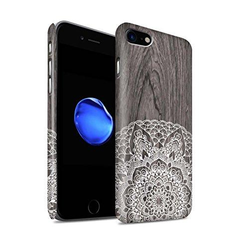 STUFF4 Matte Snap-On Hülle / Case für Apple iPhone 7 / Schönheit Muster / Fein Spitzenborte Holz Kollektion Rustikales