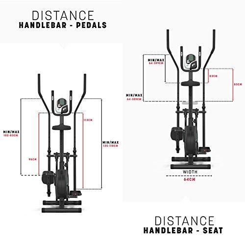 Deluxe 2-in-1 Crosstrainer, Hometrainer für Fitness, Cardio, Workout, mit Sattel - 3