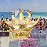 Jspoir Melodiz 40 Zoll Spielzeug Krone Helium Ballon Prinzessin Krone Folie Ballons für alles gute zum Geburtstag Hochzeit Party Baby Dekoration Prinzessin Kinder 1pcGold