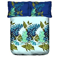 Portico New York Lavender Printed Super King Size Double Bedsheet Set, Multi-Colour, 274 x 274  cm