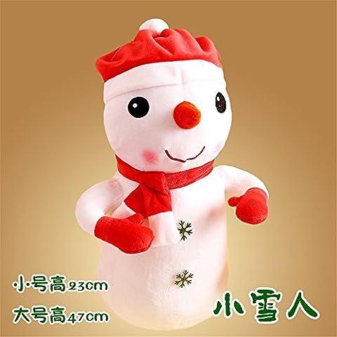 Serie de Navidad gracioso Novedad Decoración juguetes blandos regalos:Navidad Muñecas y muñecos de la serie de Navidad Navidad Navidad renos mano muñecos de nieve 23cm