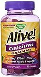 Nature's Way, Alive! Calcium Gummies, 60 Gummies from Nature's Way