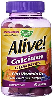 Nature's Way, Alive! Calcium Gummies, 60 Gummies from Nature's Way
