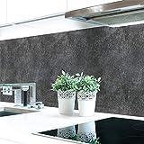 Pannello da cucina, tipo ardesia, colore antracite, in PVC rigido di ottima qualità, 0,4mm, autoadesivo, direttamente sulle piastrelle 60 x 51 cm