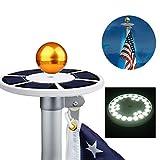 Zyurong Fahnen-Beleutung LED-Licht für Fahnenmast, 26 helle LEDs, solarbetrieben, wasserdicht geeignet für 4,5 - 7,6 m Fahnenmast