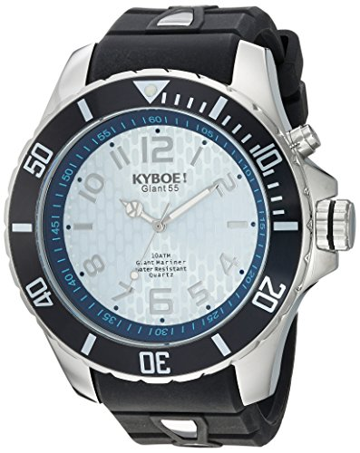 KYBOE Unisex-Adult Analogue Quartz Watch with Silicone Strap KY.55-009.15