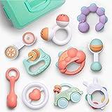 GizmoVine Rassel Baby Spielzeug Baby Rassel Set mit Aufbewahrungsbox ohne BPA Spielzeug für 0,3,6,9,12 Monate und Neugeborene (10 pcs)