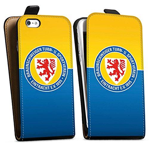 Apple iPhone 7 Tasche Hülle Flip Case Eintracht Braunschweig Fanartikel BTSV Downflip Tasche schwarz