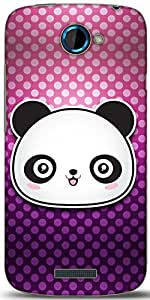 Snoogg Cute Panda Designer Protective Back Case Cover For HTC One S