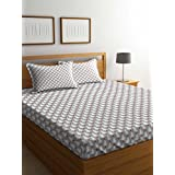 Portico New York Marvella Flannel 144 TC Cotton Bedsheet with 2 Pillow Covers - Queen Size, Multicolour