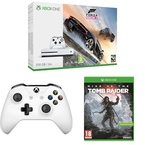 Xbox One S 500GB + Forza Horizon 3 + Controller + Rise of Tomb Rider