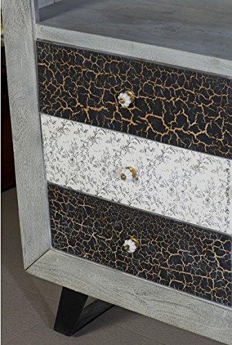 The Wood Times Kommode Schrank Massiv Vintage Look Cell Mangoholz, BxHxT 110x155x42 cm - 3