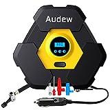 Audew Luftpumpe Luftkompressor Digital Kompressor Tragbare Reifenpumpe mit 10ft Kabel, LED
