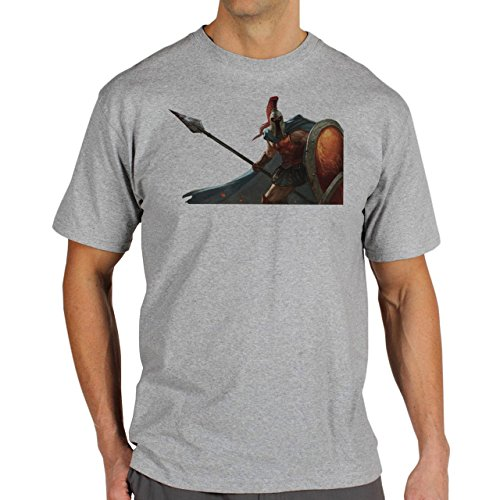 League Of Legends Fans Art Phanteon Herren T-Shirt Grau