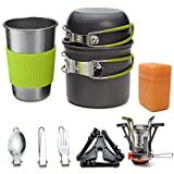 Outdoor Picnic Cookware 12Pcs/Set, 1-2 People Camping Hiking Backpacking Stove Pot Combination Portable Field Tableware