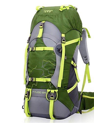 HWB/ 36-55L L Tourenrucksäcke/Rucksack / Wandern Tagesrucksäcke / Rucksack Camping & Wandern / Klettern / Reisen DraußenWasserdicht / Black