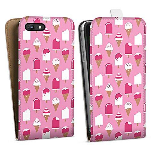 Apple iPhone X Silikon Hülle Case Schutzhülle Eis Sommer Eiscreme Downflip Tasche weiß