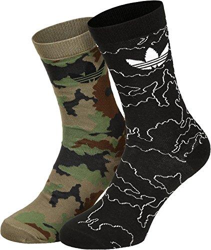 Adidas calze da uomo Camouflage Thin Crew, Uomo, Camouflage Thin Crew, Multicolor/Black, 35-38