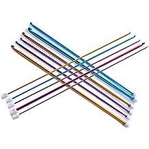 Gosear 11 piezas 2mm-8mm Mult-Color Set de Agujas de Punto de Gancho de Ganchillo Afgano de óxido de Aluminio,Color al azar