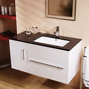bathroom vanity units without basin. 1000 Vanity Unit with Basin for Bathroom Ensuite  Wall Hung Soft Closing Modern Design