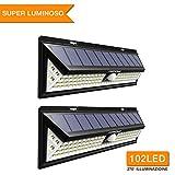 [2 Pezzi] Mpow Luce Solare 102 LED, Luci Giardino 2500LM, 3 Modalità di...