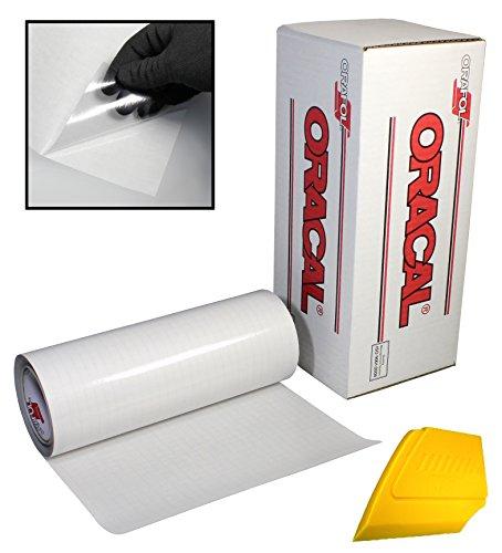 Oracal Transparentes Transferpapier Klebeband 4,6 m Rolle mit hartem gelben Detailer-Rakel 24