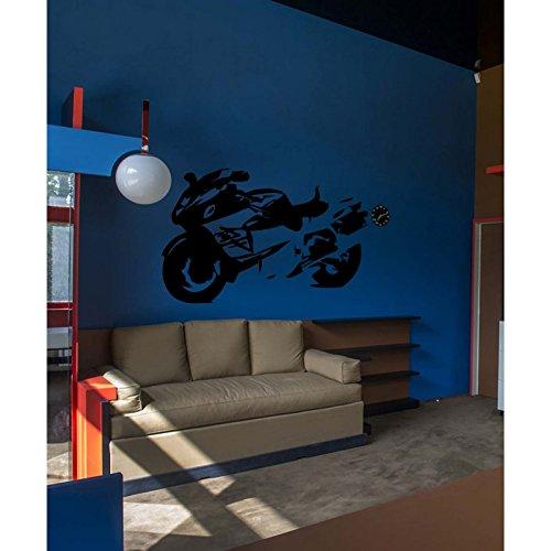 TATOUTEX Aufkleber für Rennrad, 48 cm x 30 cm, Orange - Rennrad 48cm
